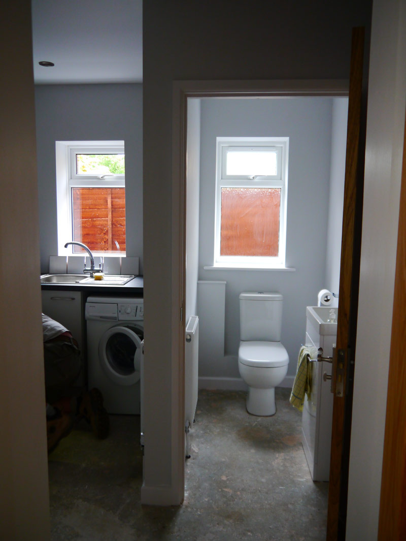 Cloakroom and utility room